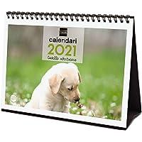 Finocam - Calendario de sobremesa 2021 Escribir Imágenes Cachorros Catalán