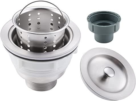 Rust Proof SUS 304 Stainless Steel S-100 Vuzati 3-1//2 Inch Kitchen Sink Strainer Pack of 2 Removable Sink Drain Stopper Cover Stainless Steel Strainer with Removable Waste Basket
