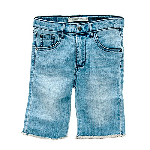 Appaman Kids Boy's Raw Edge Denim Shorts (Toddler/Little Kids/Big Kids) Light Wash Shorts 10 Big Kids (Denim Shorts Raw Edge)
