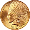 1910 D $10 Indian Gold Ten Dollar MS65 NGC\CAC