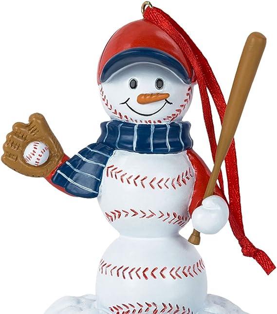 Baseball Snowman Resin Christmas Ornament Baseball Ornaments By Chalktalk Sports Kitchen Dining Amazon Com