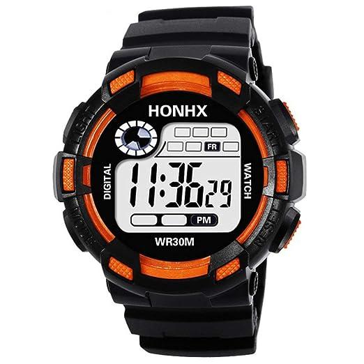 Kongqiabona Reloj Deportivo Inteligente para Relojes Deportivos Inteligentes con luz LED de HONHX Impermeable para Hombres: Amazon.es: Relojes