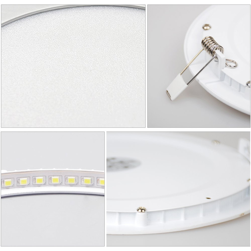 5*18W Circulo HENGDA Ultra delgado con transformador Panel redondo Luz empotrada en el techo Downlight LED Luz empotrada en el techo 3 modos Color de luz intercambiable AC 86 ~ 265 V