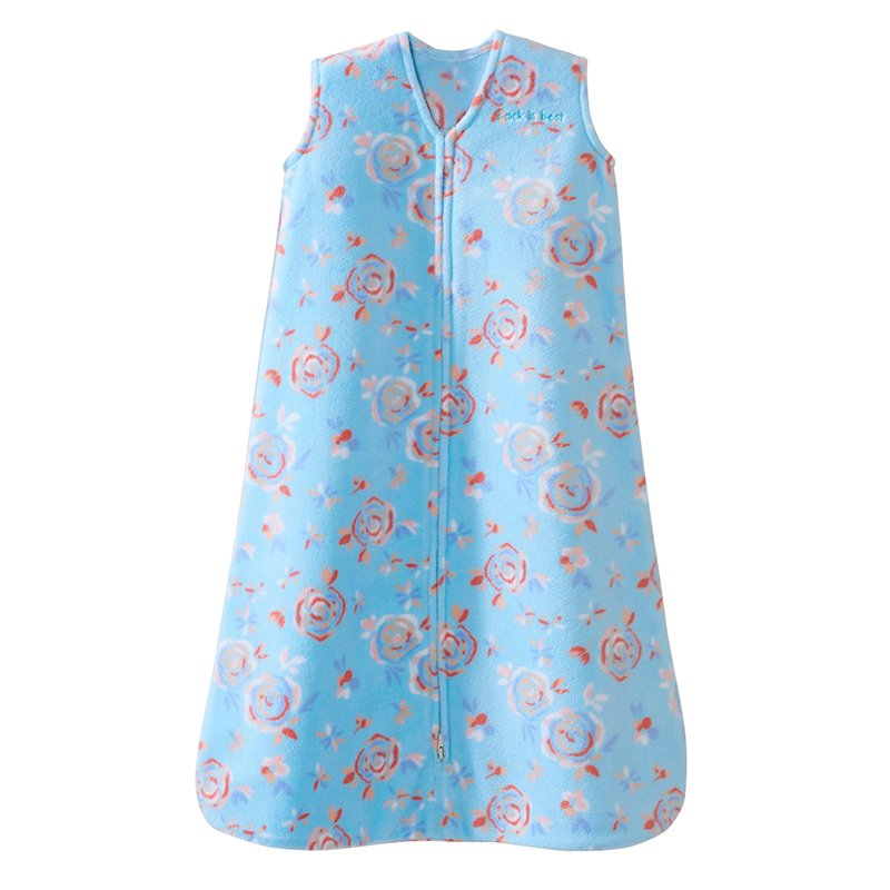 Halo Sleepsack, Micro-fleece, Pretty Floral, Aqua, Large by Halo