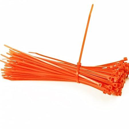 04f02ed5b616 Hisuper 100Pcs Practical Self-Locking Nylon Plastic Wire Cable Cord Zip Ties  Strap 3X150mm - Orange: Amazon.co.uk: Kitchen & Home