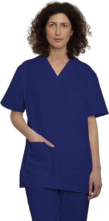 Uniforme Sanitario Pijama Conjunto Casaca Y Pantalón Unisex Hombre Y Mujer   Uniforme Hospitalario 100% Algodón Sanforizado   para Medico, Enfermeros, Personal Sanitario, Veterinario, Esteticista, De: Amazon.es: Ropa y accesorios
