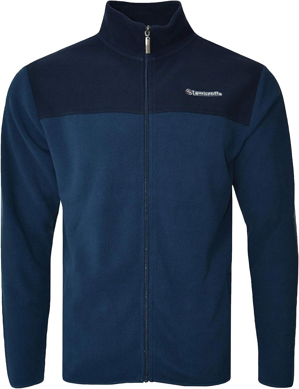 Lambretta Mens Full Zip Polar Fleece Two Tone Jacket
