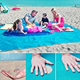 Beach Blanket Rug Sand Proof, Sand Escape Compact Beach Blanket Mat,Sand Dirt & Dust disapper - Fast Dry, Easy to Clean Perfect for the Beach, Camping, Picnic, Outdoor Events