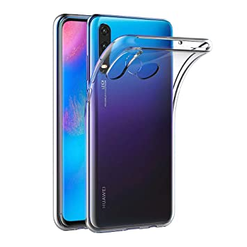 AICEK Funda Huawei P30 Lite, Transparente Silicona Fundas para Huawei P30 Lite Carcasa Silicona Funda Case