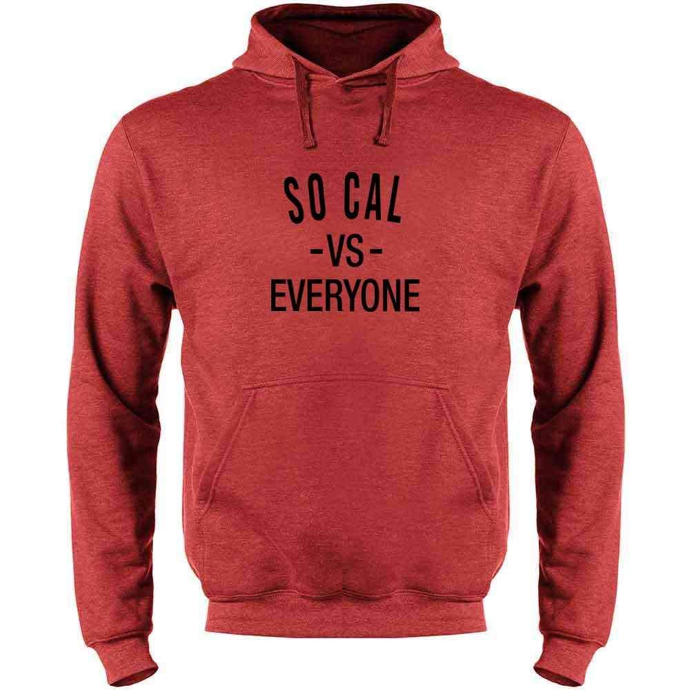 Pop Threads SoCal vs Everyone Los Angeles California Mens Fleece Hoodie Sweatshirt