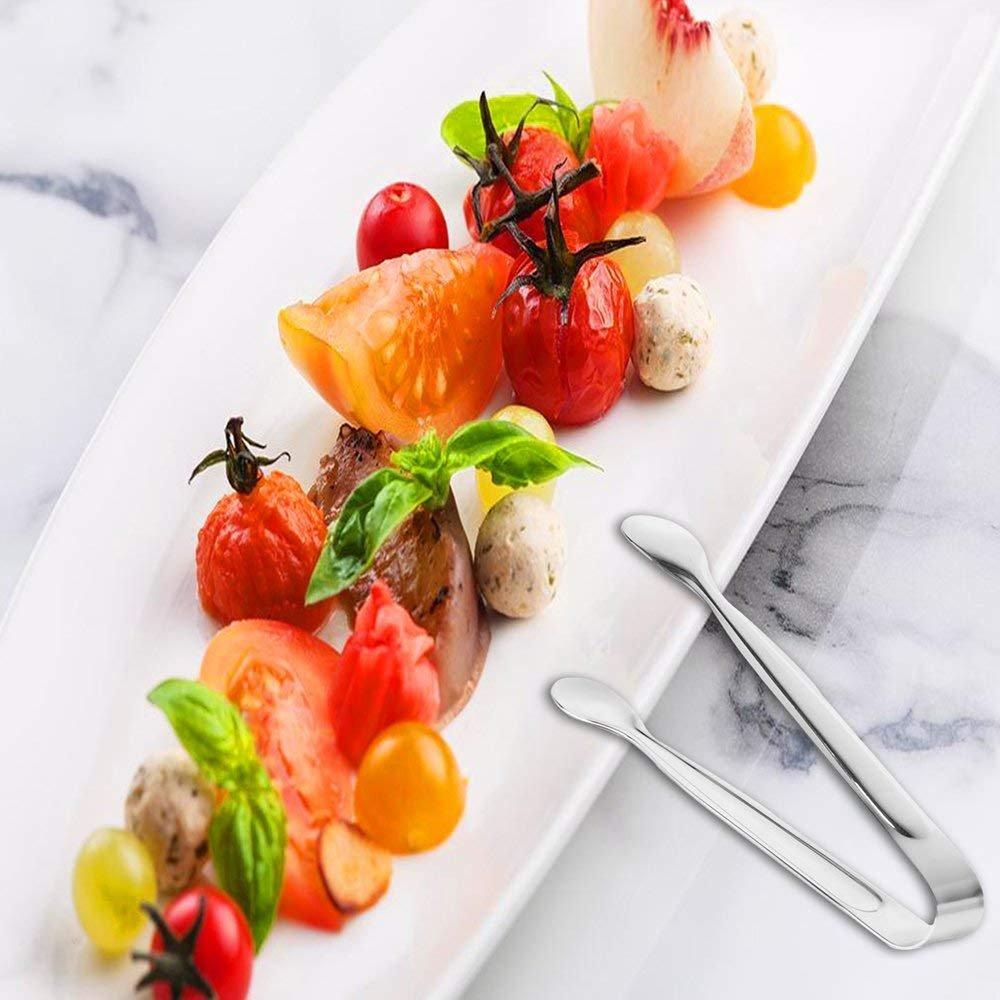 ADANMORE Sugar Tongs Ice Tongs Food-Grade Premium Stainless Steel Mini Utility Serving Appetizer Tongs Set of 4