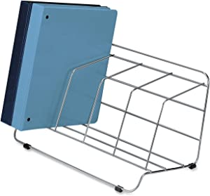 Fellowes Catalog Rack, 4 Compartment, Wire, Silver (1040201)