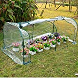 Light green 7'x3'x3' Greenhouse Mini Portable Gardening Flower Plants Yard Hot House Tunnel