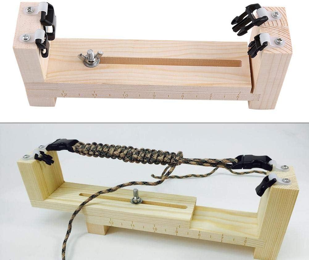 Bracelet Jig Adjustable Wood Paracord Maker Jig Kit Wristband Maker Weaving Knitting Craft Tool for DIY Activities Handwork
