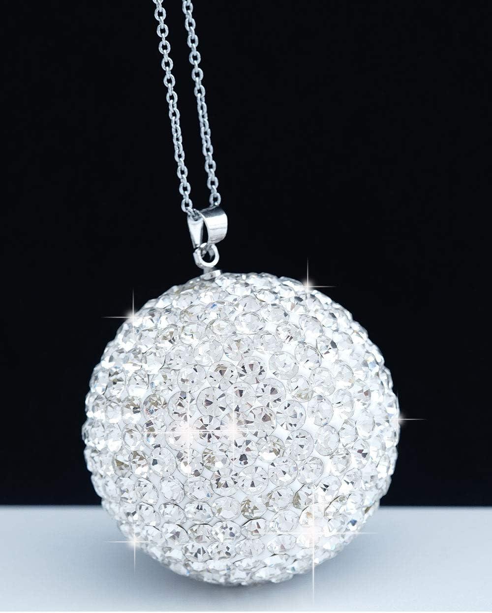 New Diamond Fox Bling Car Crystal Pendant Rearview Mirror Accessory Interior