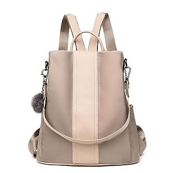 fc3d77e77ef42 LOSMILE Damen Rucksack Handtaschen Nylon Daypack Umhängetasche  Reiserucksack Schulrucksack Backpack Schultertasche PU Leder Anti Diebstahl  Tasche