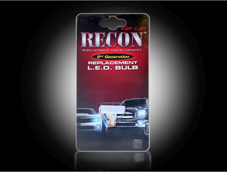 RECON 264180WHX 194 168 T-10 High-Power 1-Watt 5 piece White Bulb LED