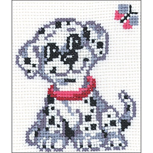 "Dalmation Dog Counted Cross Stitch Kit-5""X6.25"" 10 Count"