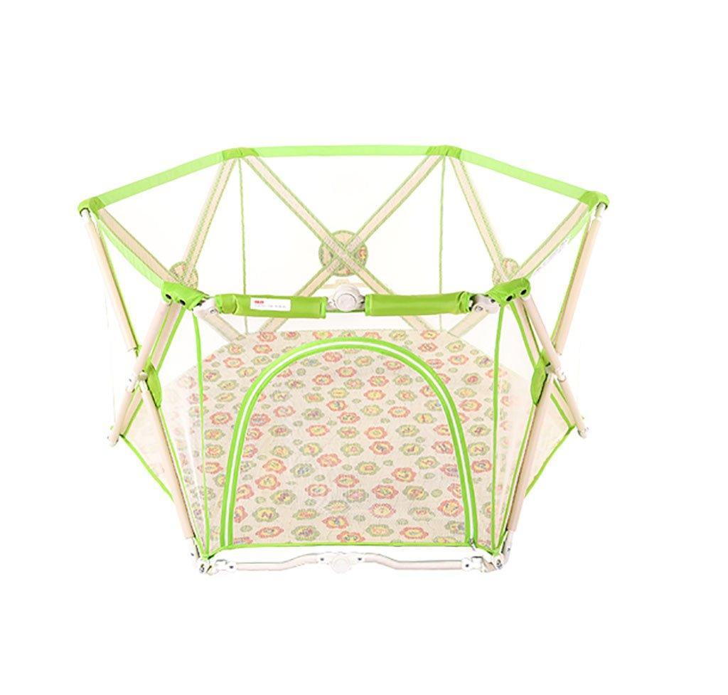 【あす楽対応】 YHDD 折り畳み式ベビーフェンス屋内玩具安全保護ベビープレイフェンスベビーフェンスベビーケージ (色 : YHDD 緑) 緑 : (色 B07QFNN9RV, 安心安全のがんばる館:edadd5d9 --- a0267596.xsph.ru