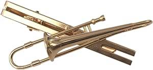 Miniblings trombon clip de lazo del clip de lazo de oro trombon trombon + Box - joyería hecha a mano de la moda I Sr. joyería de los hombres empate clip de la joyería del clip de lazo