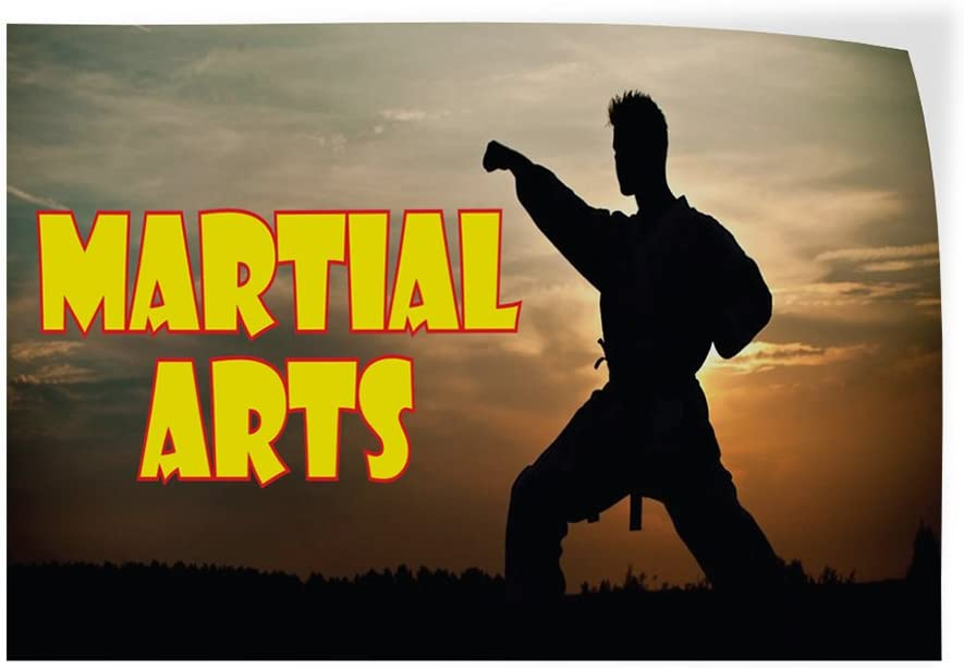 27inx18in Decal Sticker Multiple Sizes Martial Arts #1 Style E Lifestyle Martial Arts Outdoor Store Sign Black Set of 5