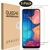 HEYUS [2 Pack] for Samsung Galaxy A20 Screen Protector, Case Friendly, 9H Hardness Premium Tempered Shatterproof Glass Screen Protector Film with Easy Bubble-Free Installation for Samsung Galaxy A20