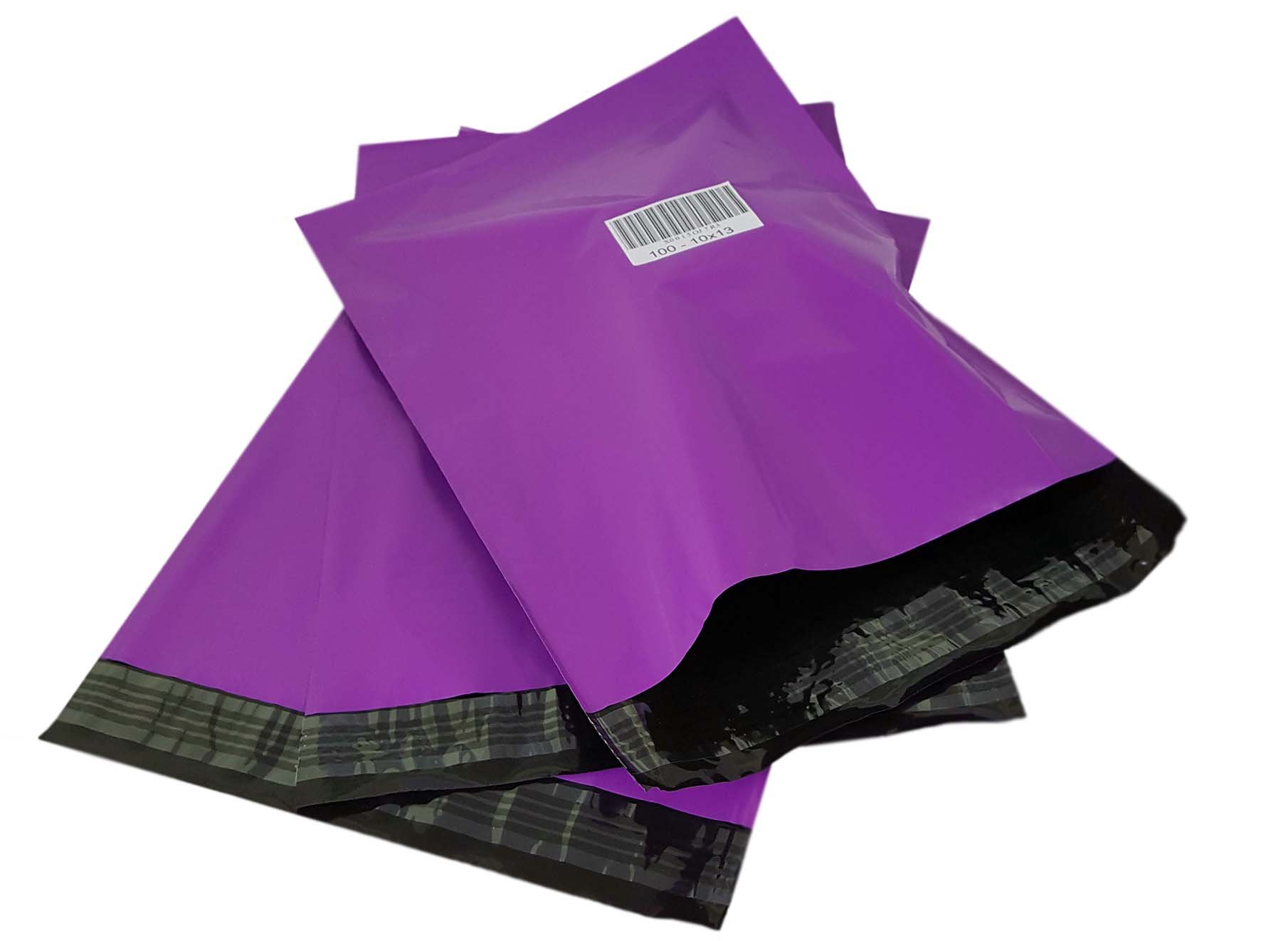 iMBAPrice Poly Mailers Shipping Envelopes Bags, 10 x 13 - inches , 100 Bags (Purple)