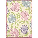 Safavieh Safavieh Kids Collection SFK376A Handmade Ivory and Pink Cotton Area Rug (6' x 9')