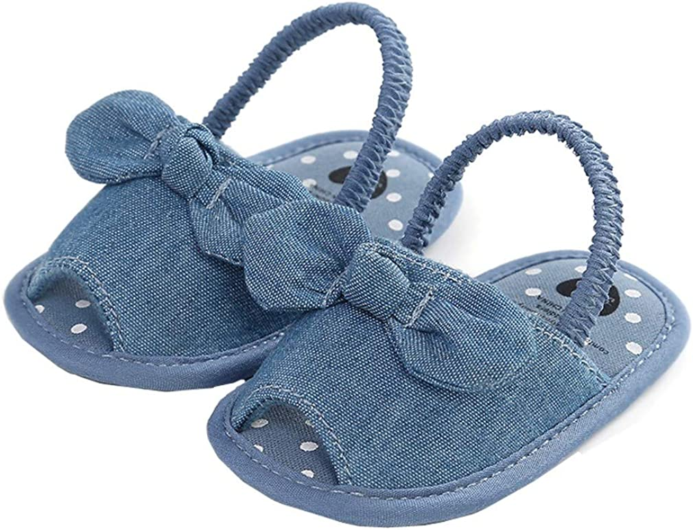 HsdsBebe Baby Girls Bowkont Princess Sandals Bohemia Soft Sole Toddler First Walkers Beach Dress Slipper Shoes