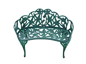 Oakland Living Lily Garden Decor Bench