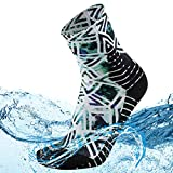 MeiKan 100% Waterproof Windproof Socks, Women's Fashion Sock in All Seasons Trail Running Socks 1 Pair (Multicolor, Small)