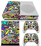 ModFreakz® Console/Controller Vinyl Skin Set - WTF Sticker Bomb for Xbox One Slim