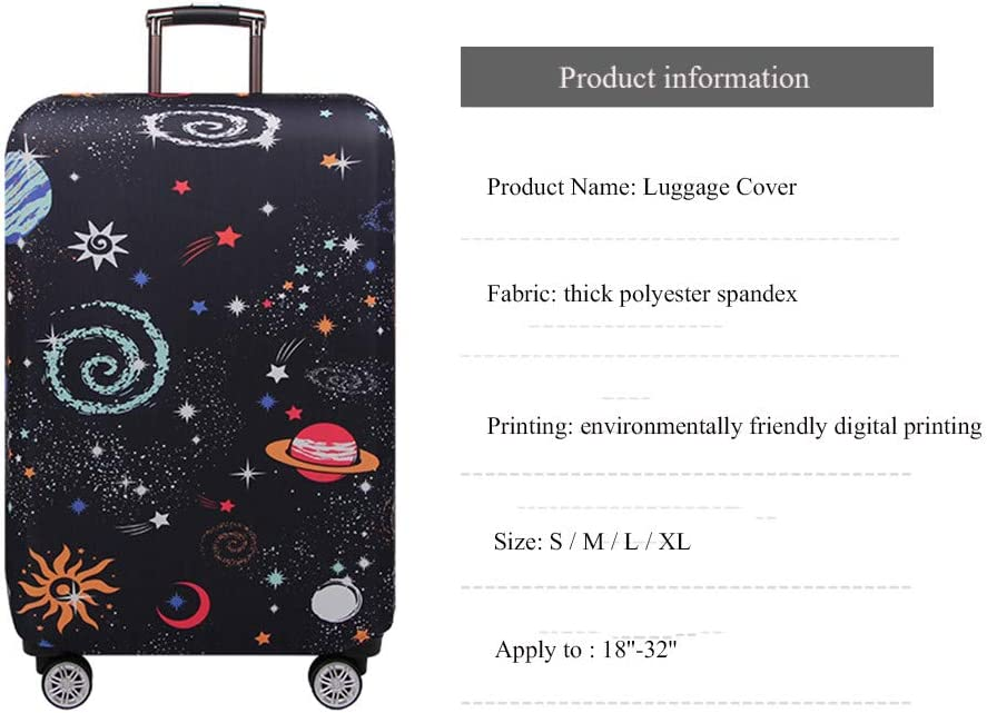 Fabal Thicker Travel Luggage Protective Cover Trunk Case Apply to 18-32 Suitcase