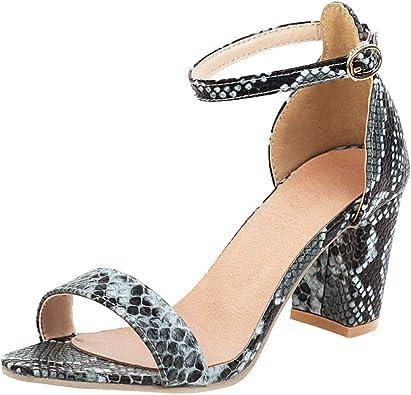 High Heels Snakeskin Heeled Sandals