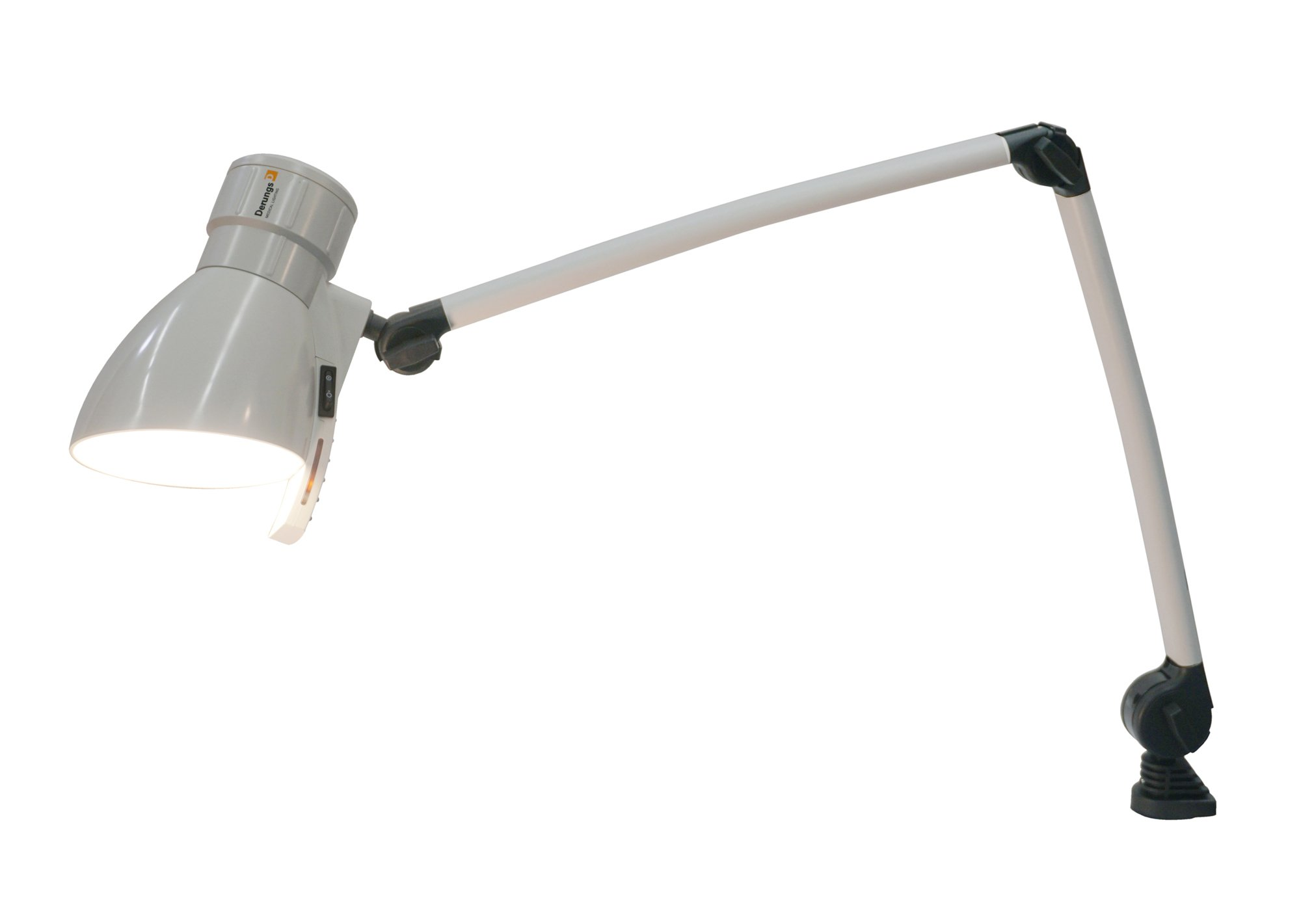 Waldmann Lighting Medicool L E 26 D13116105, LED Medical Patient Reading Task Light With Included Table Clamp