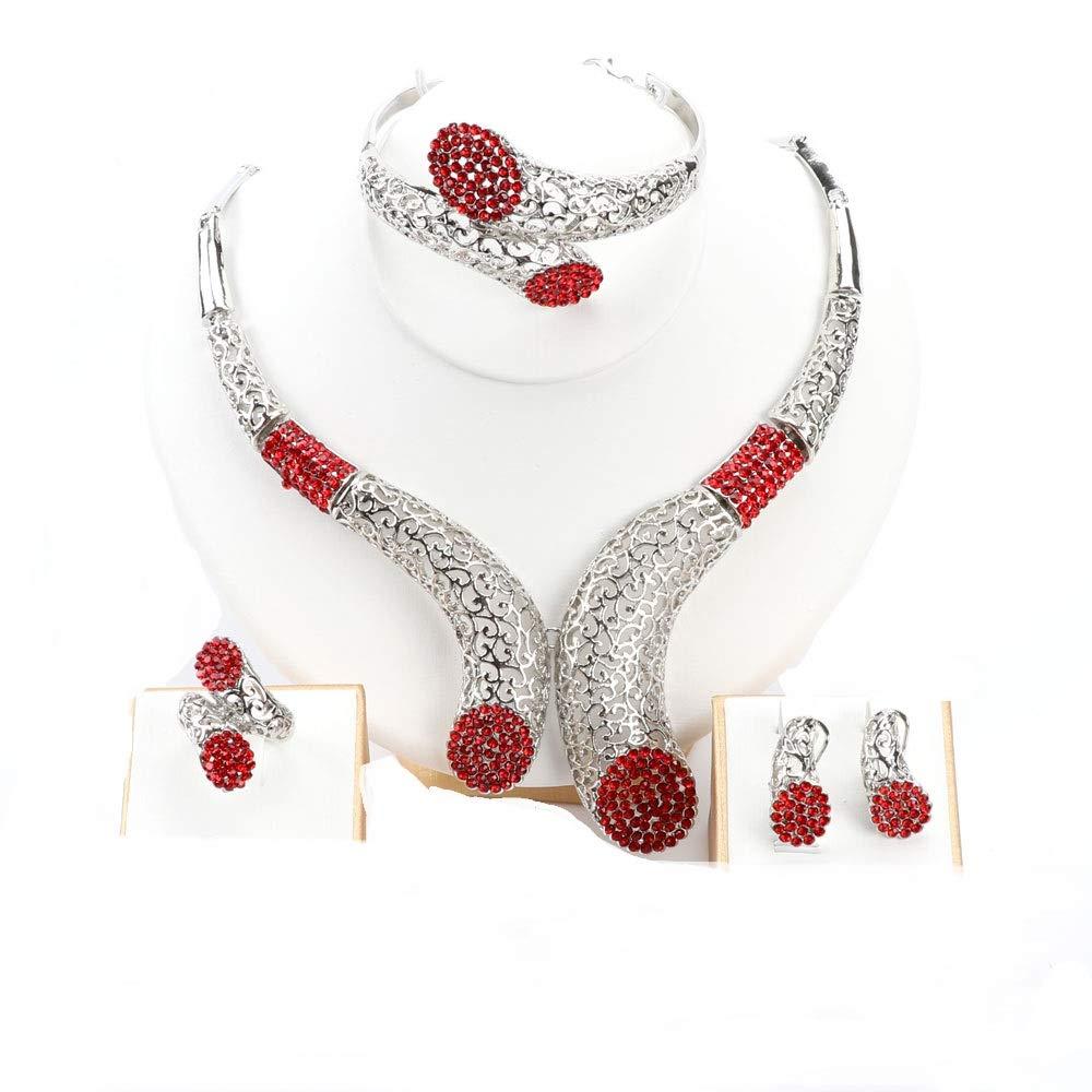 18K Vergoldet Mode Damen Ohrringe Halskette Schmuckset Geschenk Für Fraunen & Mädchen OUHE - vergoldet OUHE-TL400009