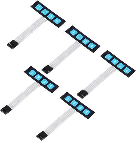 5 unidades de 4 Key electrónica Membrana Interruptor ...