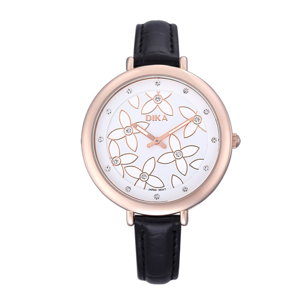 With Luminescent Quartz Watches / Fashion Lady Watch /シンプルカジュアルメスform-d B06XJKHYJR