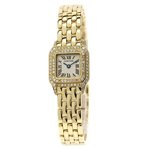new style 16f2d 4882b Amazon   [カルティエ]ミニパンテール ダイヤ2重ベゼル 腕時計 ...