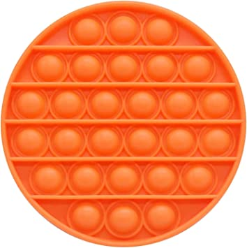 Autism Anxiety Stress Reliever Silicone Squeeze Anti-Anxiety Toys Simple Dimple Fidget Toy for Birthday Parties for Children Adults(Fruit /& Carrot) ROLEES Push Bubble Sensory Fidget Toy