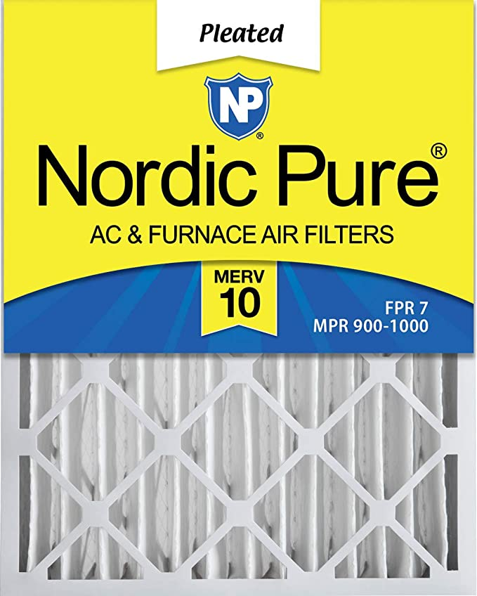 Nordic Pure 17x22x1 MERV 12 Pleated AC Furnace Air Filters 6 Pack