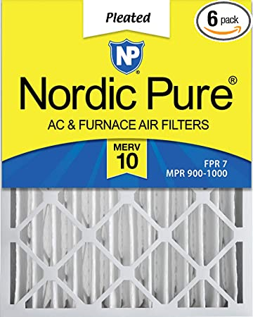 Nordic Pure 20x21/_1//2x2 Exact MERV 10 Pleated AC Furnace Air Filters 4 Pack