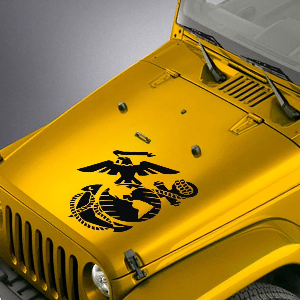 Amazon com skunkmonkey jeep wrangler tj lj jk jku hood decal us marine corps usmc ega sticker red stickers automotive