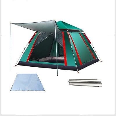 TY&WJ Automatique Tente De Camping,épaississement étanche à La Pluie Double Couche Tentes Dôme Pour Les Sports De Plein Air D'escalade Randonnée Tipi 3-4 Personne