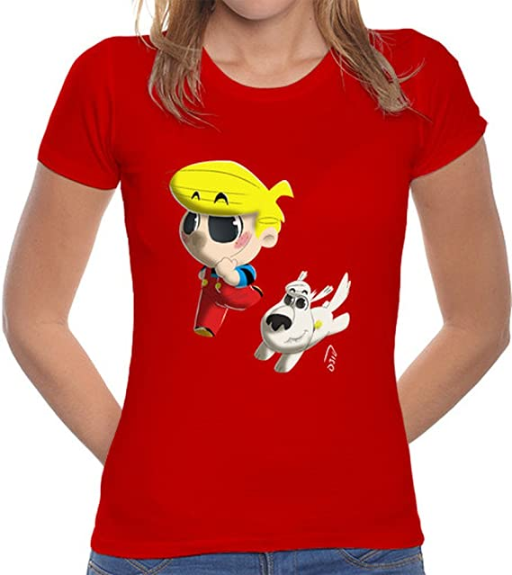 latostadora Camiseta Daniel el Travieso - Camiseta Mujer Corte clásico Rojo Talla XL: Amazon.es: Ropa y accesorios