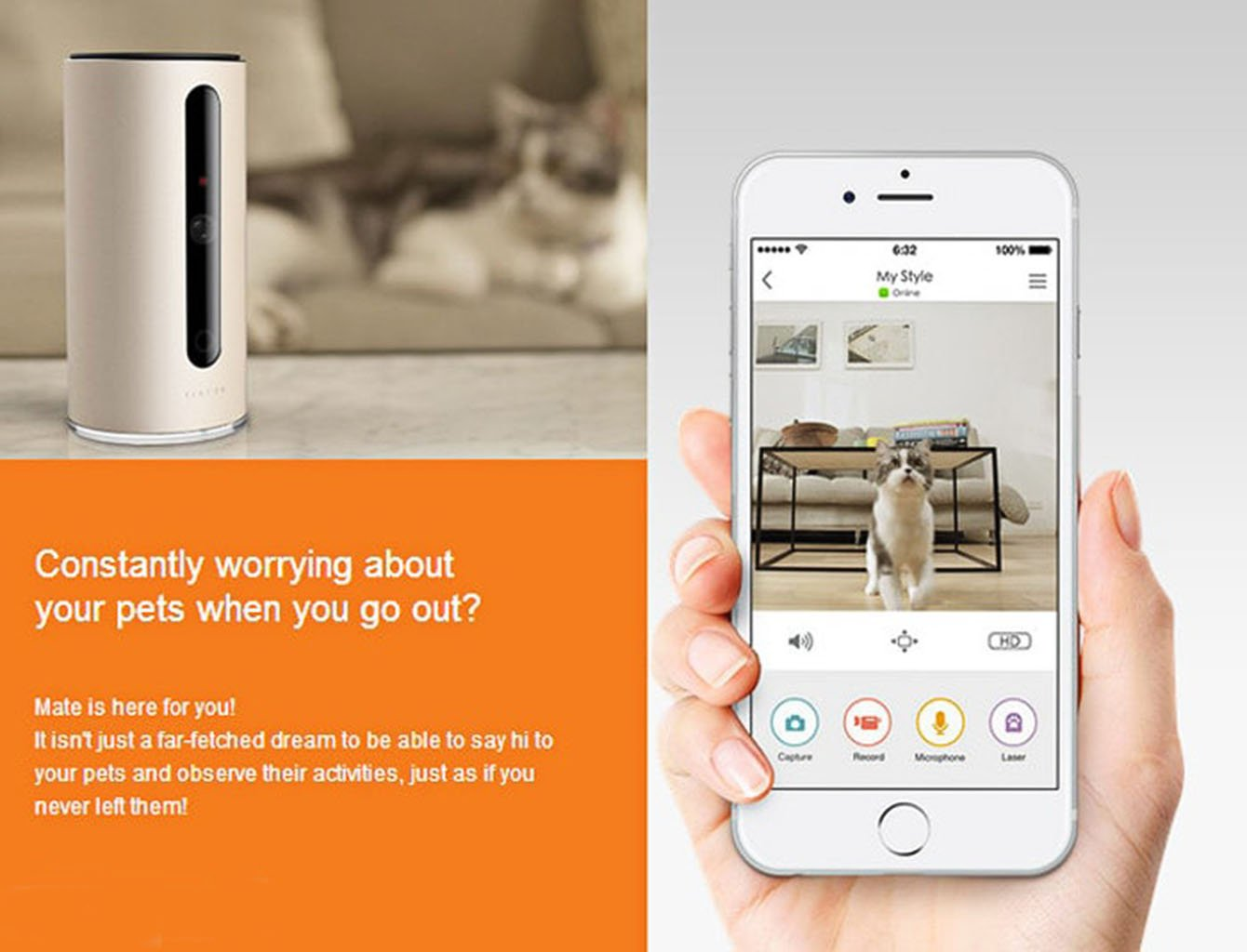 PETKIT SPCGY Smart Wi-Fi Video Pet Monitor by PETKIT (Image #4)