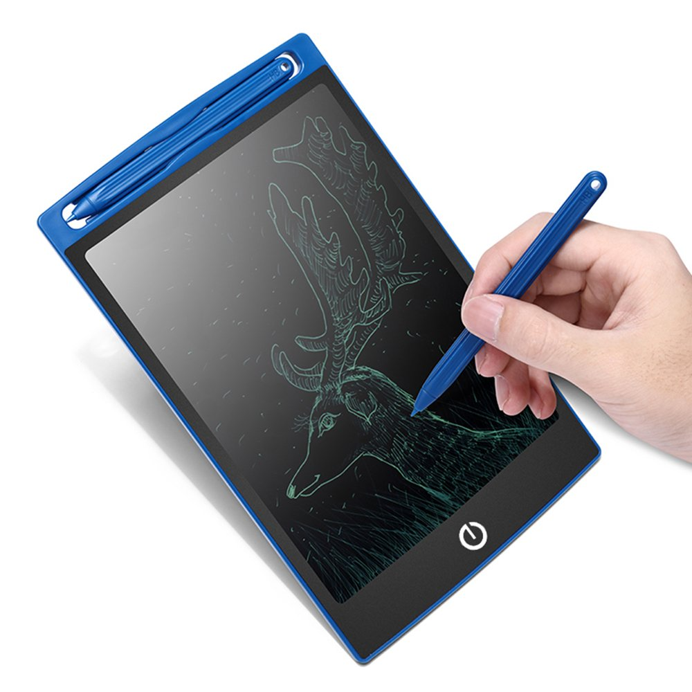 HUIXIANG LCD Writing Tablet 8.5 Inch Erasable Electronic Drawing Board Digital Paperless Doodle Pad with Stylus Gift for School Student Kids Birthday Present for Friends and Speech Difficulties(Blue