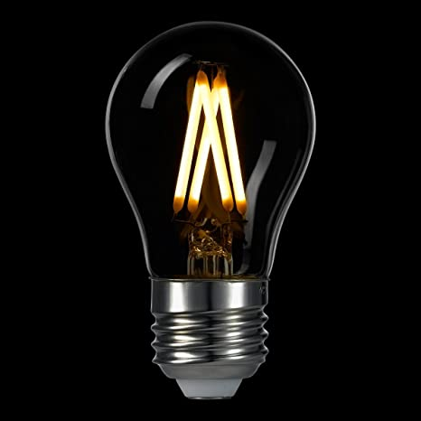 LIGHTSTORY A15 3 W LED filament bombilla 40 W equivalente, E26 Base, 2700 K