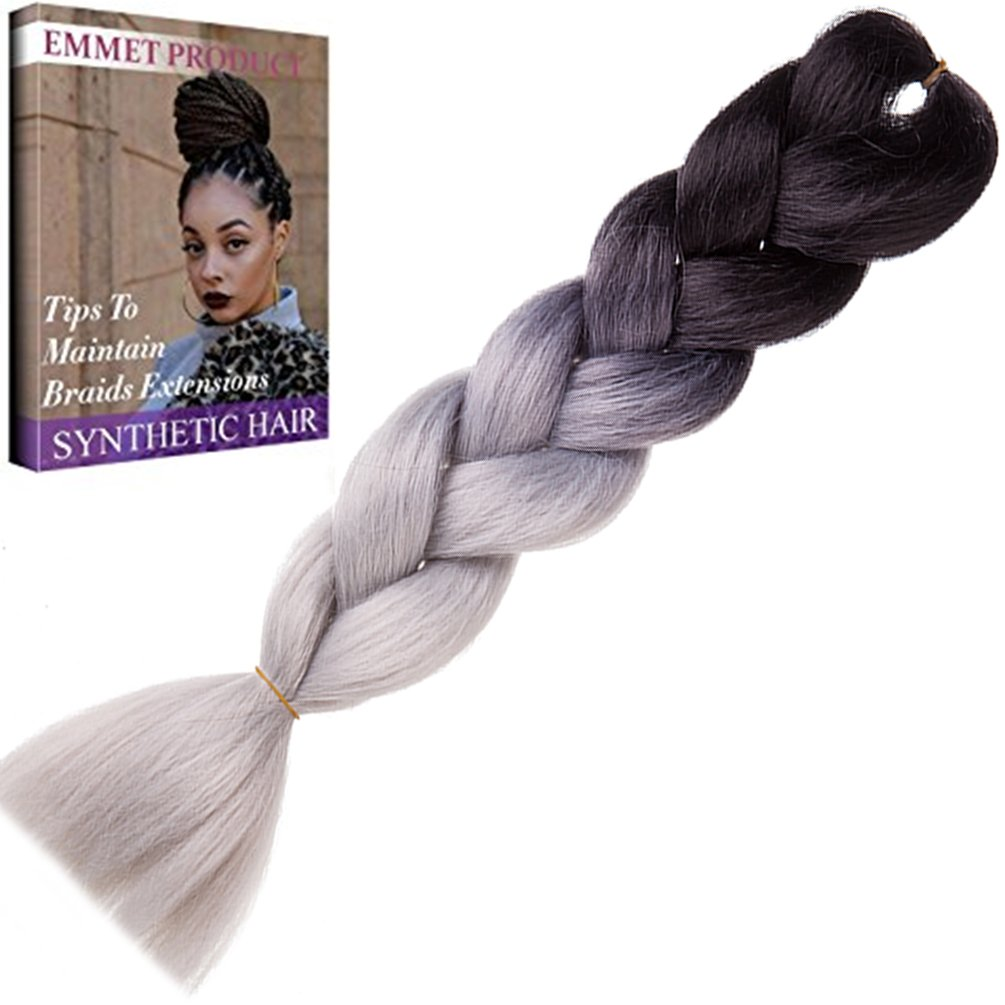 Amazon Emmet Jumbo Braids 60 Colors Kanekalon Synthetic Box