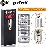 Kangertech SSOCC 0.5/1.2ohm Organic Cotton Replacement Coils, 5Pcs E Cigs Accessories for Subtank Mini, Subtank Nano, Toptank Mini, Toptank Nano,Kpin Mini,Subox Mini-C,Subvod,Subvod Mega